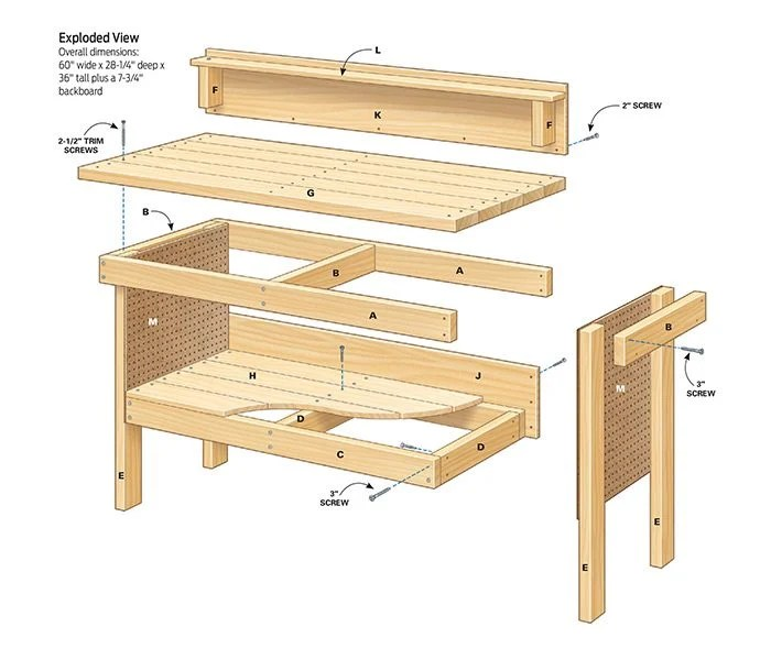 Pdf Plans Diy Workbench Plans Download Individual Diamond