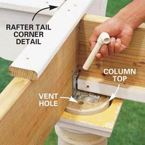 Photo18: Install PVC pieces to vent the columns