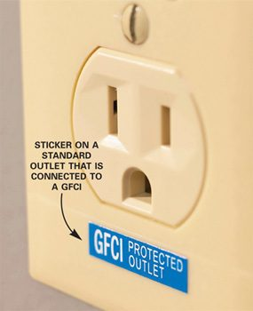 Gfci Protected Outlet Sticker : protected, outlet, sticker, Residential, Electrical, Question
