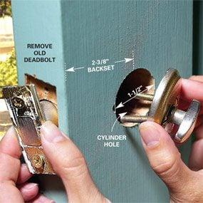 Photo 1: Remove the old lock