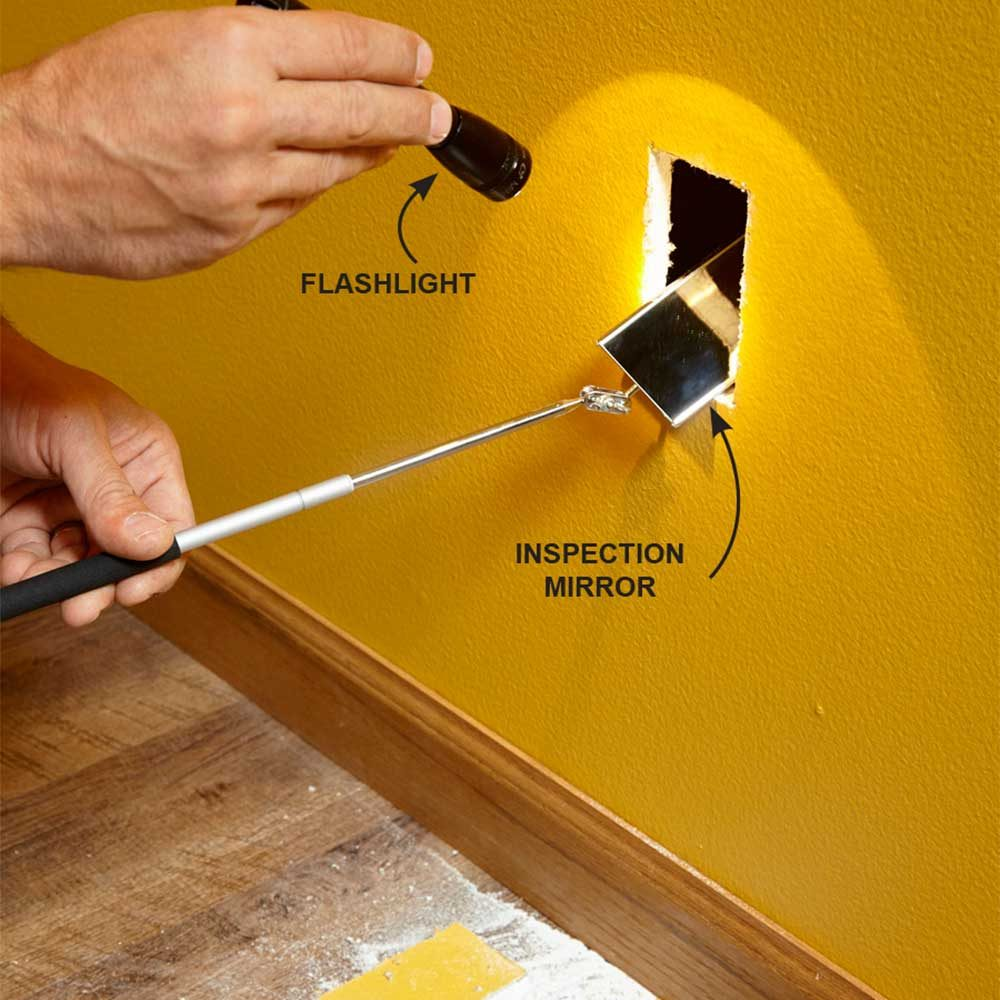 Electrical Wire Through Walls Electrical Wiring Fishing And Studs