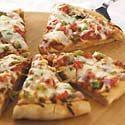 Veggie Pizza with Herbed Tomato Crust