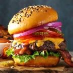 Barbecued Burgers Photo