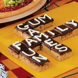 Scrabble Brownies Recipe