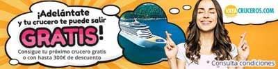 Vayacruceros lanza la campaña ¡Adelántate y tu camarote te puede salir gratis!