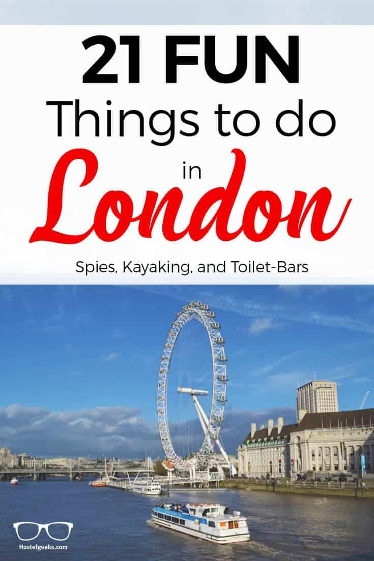 31 FUN Things to Do in London 2017 Coffee shops Harry Potter Kayak
