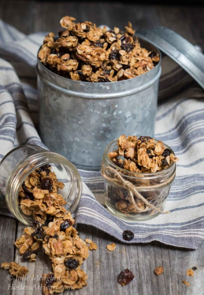 Vanilla Nut Granola makes a convenient snack when you're on the go, or a great way to add fiber to your yogurt | HostessAtHeart.com