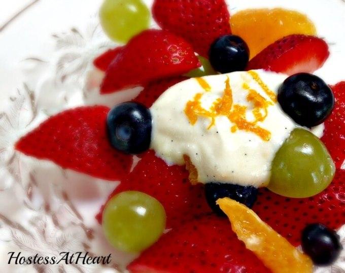 Fresh Fruit with Orange Yogurt