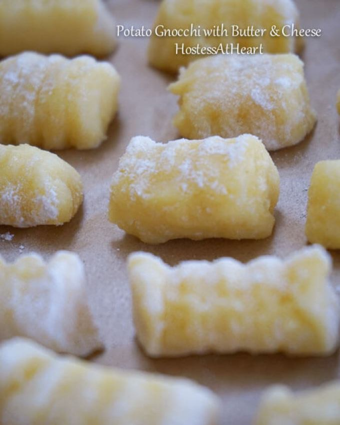 Potato Gnocchi with Butter and Cheese is luscious, creamy, dreamy delicious! It makes the perfect quick and easy dinner dish.   HostessAtHeart.com