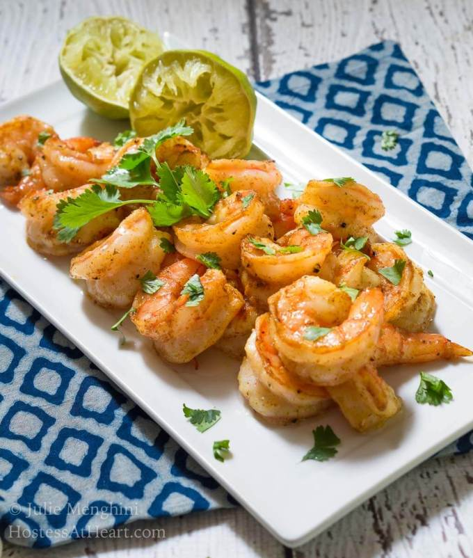 Cilantro Lime Shrimp is a great appetizer or meal. It's quick and easy to make and delicious to eat!   HostessAtHeart