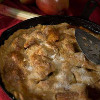Apple Rhubarb Skillet Pie Recipe