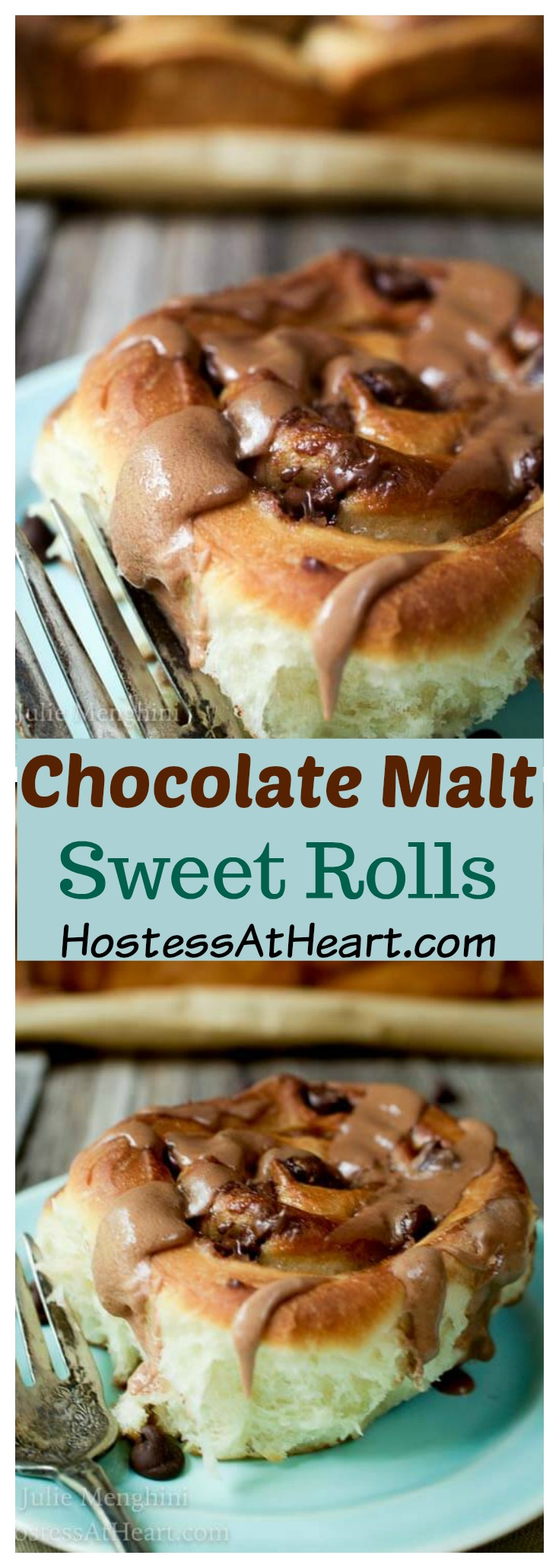 This Chocolate Malt Sweet Rolls #Recipe makes a soft and tender roll that tastes like you're eating a chocolate malt.  Who wouldn't want that for breakfast? #sweetrolls, #breakfast, #cinnamonrolls, #breakfastrecipe, #baking