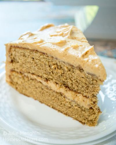 Spice Cake with Peanut Butter Frosting
