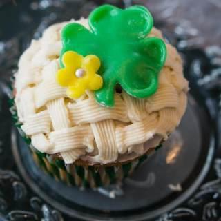 White Chocolate Irish Cream Cupcakes