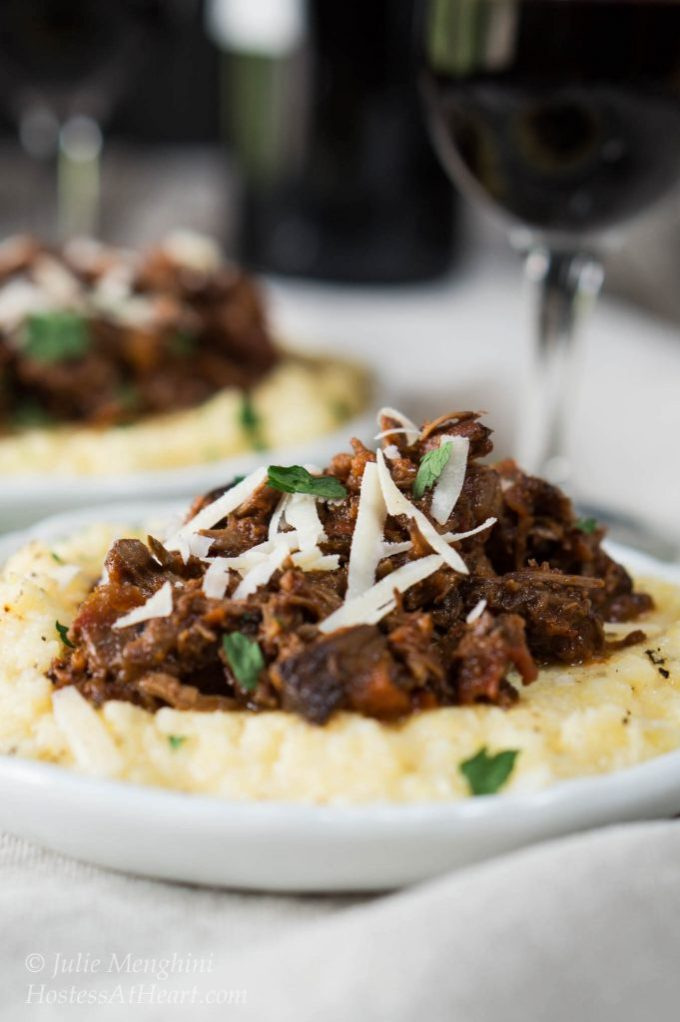 Rich and Meaty Lamb Ragu would make a perfect dish for a special occasion, holiday, or just doing something really special or yourself or those you love | HostessAtHeart.com