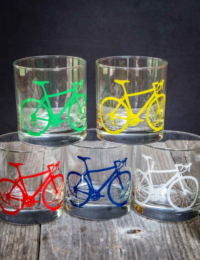 Mojitos are delicious on a hot day and taste even better in a bicycle glass from Uncommon Goods | HostessAtHeart.com