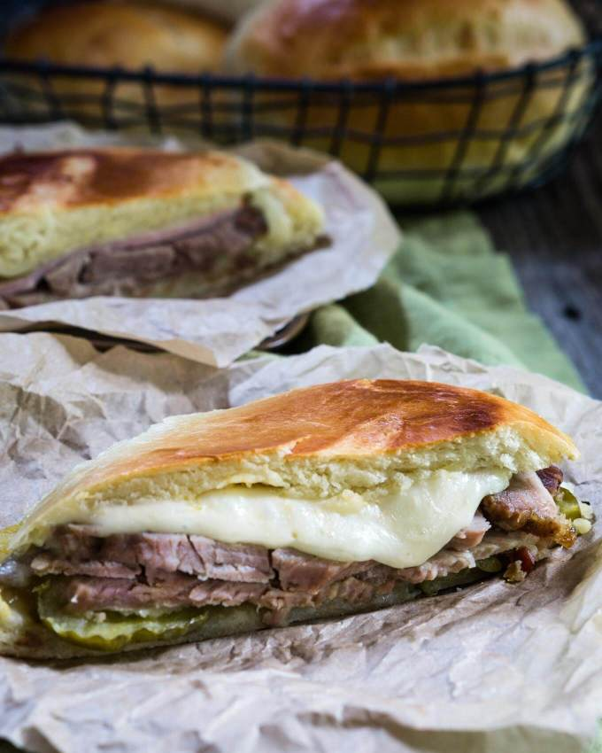 First, comes the bread and then comes the Best Cuban Sandwich! It's sweet, tangy and eggy, and best of all, delicious! | HostessAtHeart.com