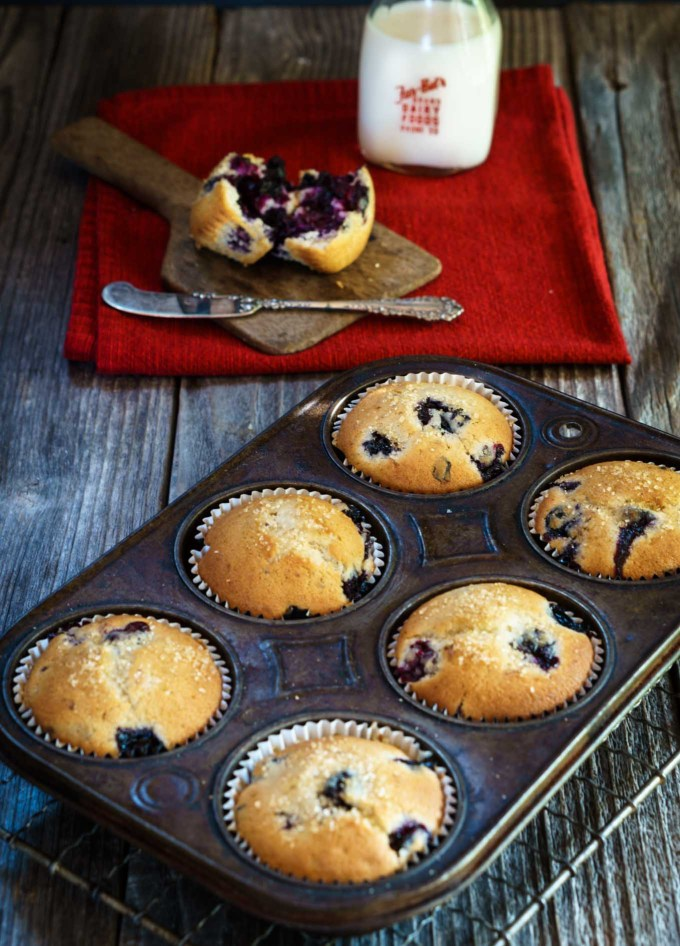 This Loaded Blueberry Muffin recipe says it all. It isn't overly sweet and is definitely all about the berries. It's perfect for breakfast, snack or with any meal when you'd like a slightly sweet addition   HostessAtHeart.com