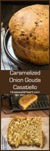 Caramelized Onion Gouda Casatiello is a soft and dreamy adaption of an Italian Brioche. This loaf is loaded with flavor with bits of caramelized onion and gouda cheese. | HostessAtHeart.com