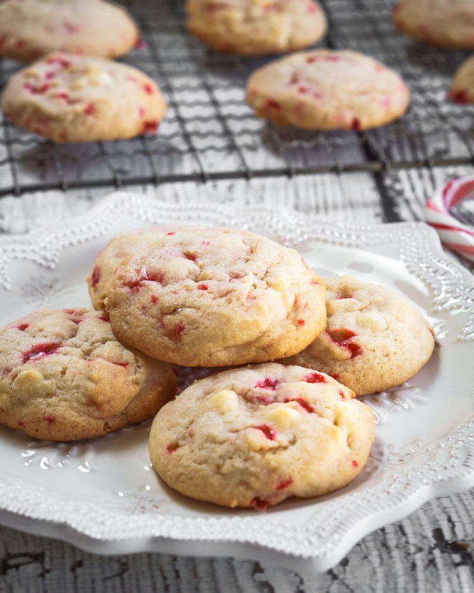 White Chocolate Peppermint cookies are soft, tender and delicious. They are quick and easy to make and perfect for enjoying with a friend over a hot chocolate | HostessAtHeart.com