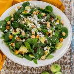 Popeye Approved Vegetarian Spinach Power Salad is full of good for you ingredients, flavor and texture that will leave you feeling healthy and satisfied. | HostessAtHeart.com