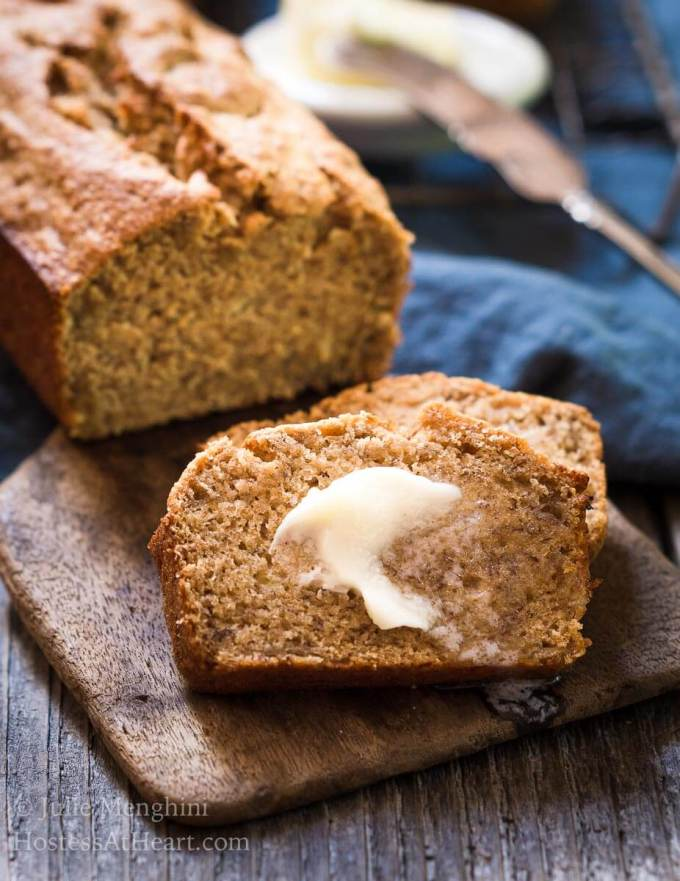 Better for you banana bread recipe hostess at heart better for you banana bread recipe uses smarter ingredients so you can still have a slice forumfinder Choice Image