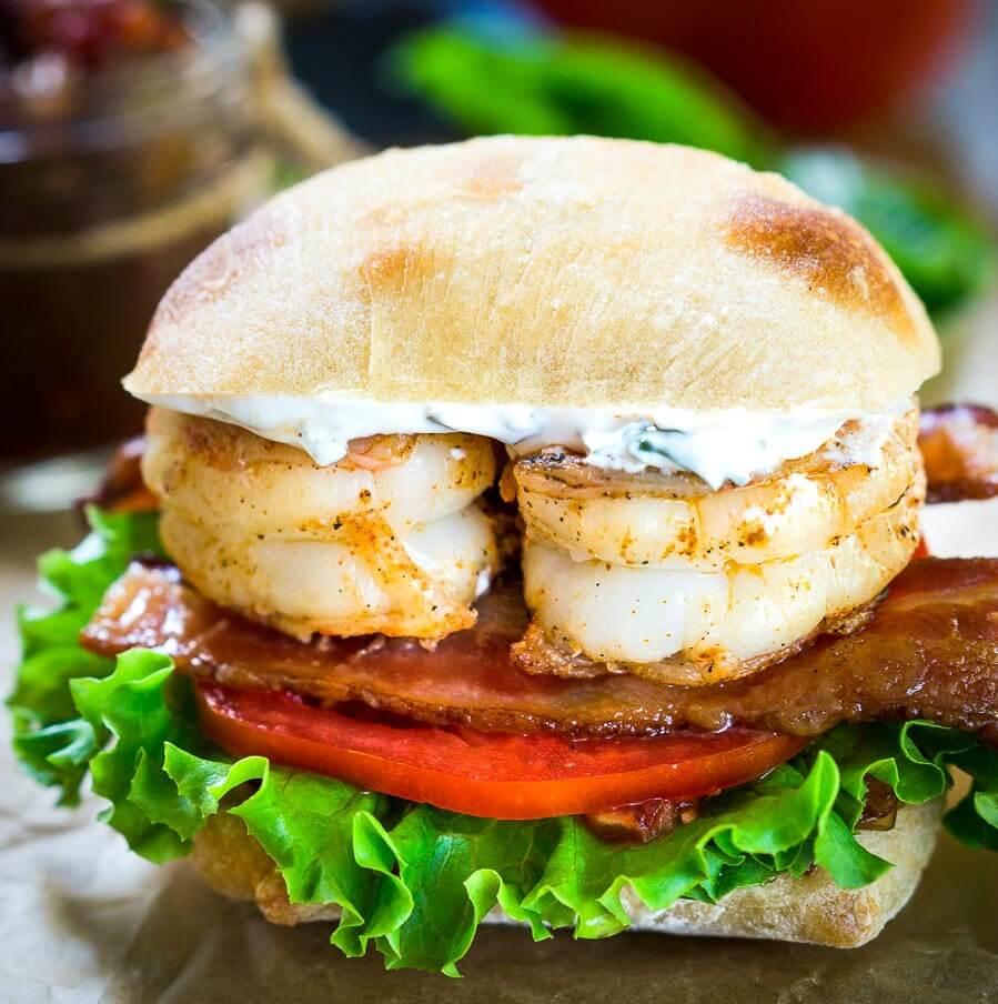 Most Amazing Shrimp BLT Sandwich Recipe