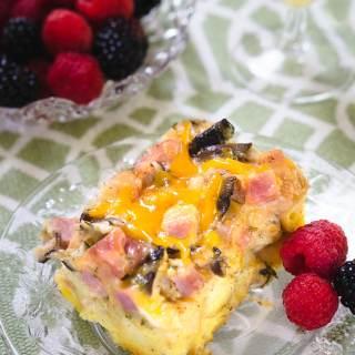 Ham and Cheese Mushroom Strata Recipe