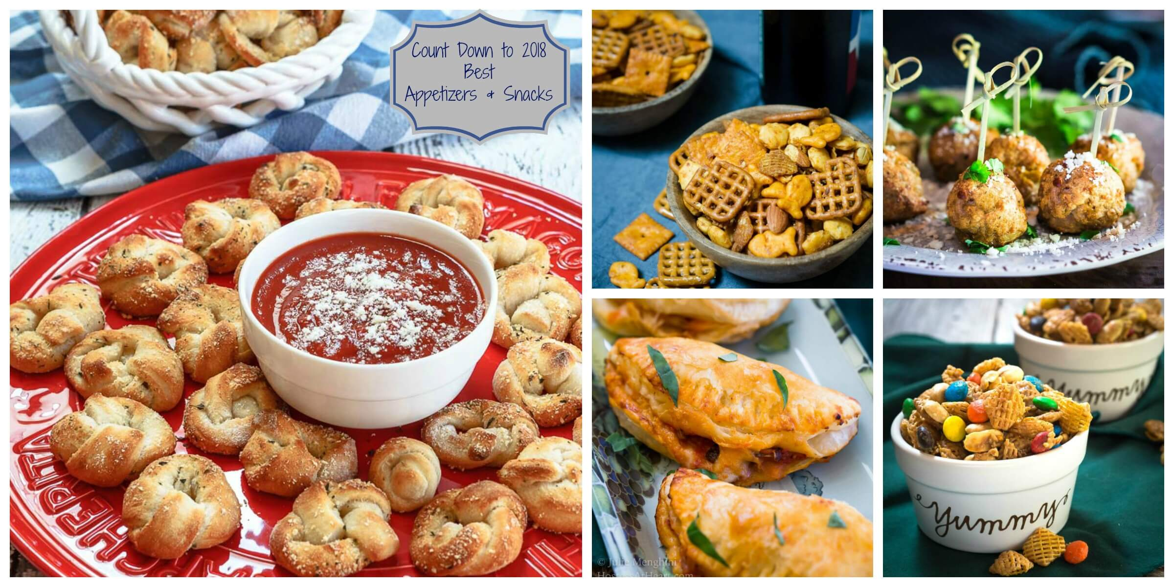 The Best Appetizers & Snacks featured on Hostess At Heart during 2017. HostessAtHeart.com #Appetizers #Snacks #Tailgating   Snack Food   Easy Appetizers