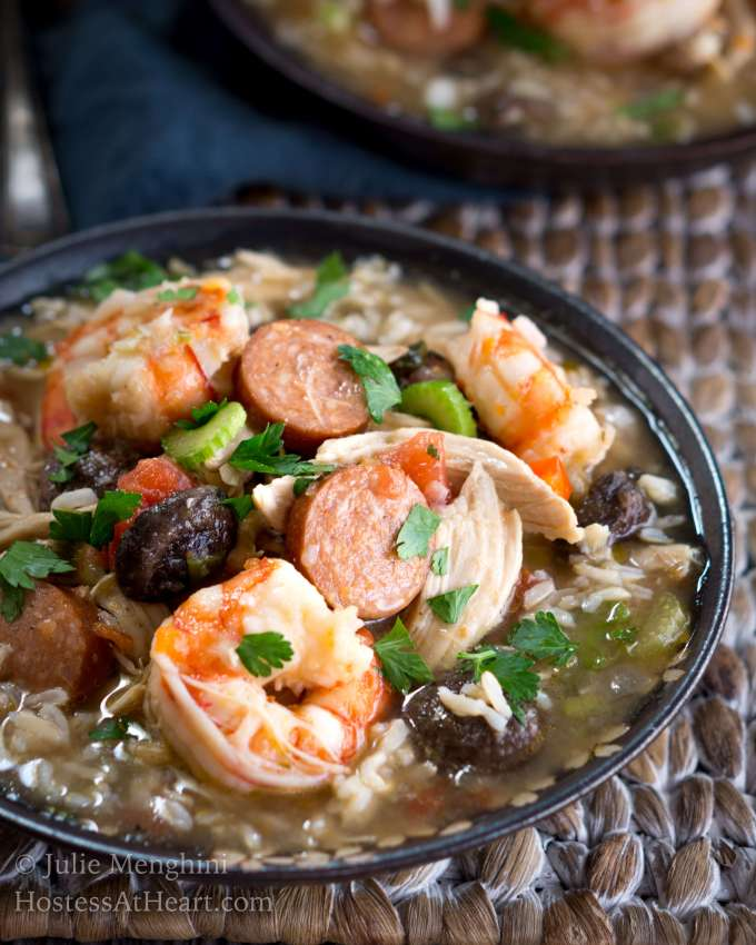 Chicken, Shrimp, and Sausage Gumbo
