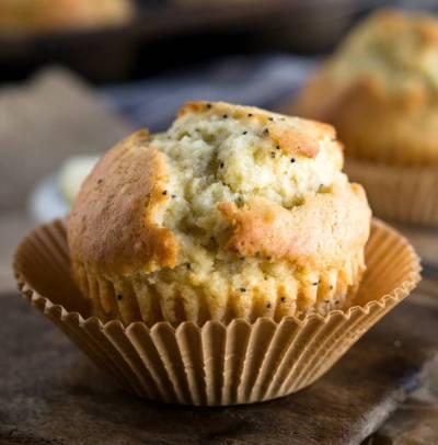Basic Muffin Recipe sitting in a muffin liner