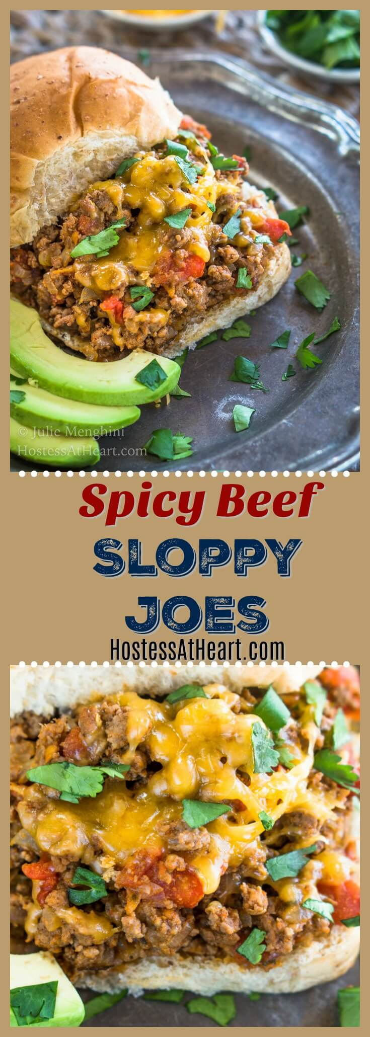 These Spicy Beef Sloppy Joes can be made as spicy as you like. Be sure to grab a fork because you're going to want to pile on this filling. #MexicanFood #TacoTuesday #sloppyjoes #GroundBeef #EasyDinner |Homemade Sloppy Joes | Best Sloppy Joes | Easy Sloppy Joe Recipe