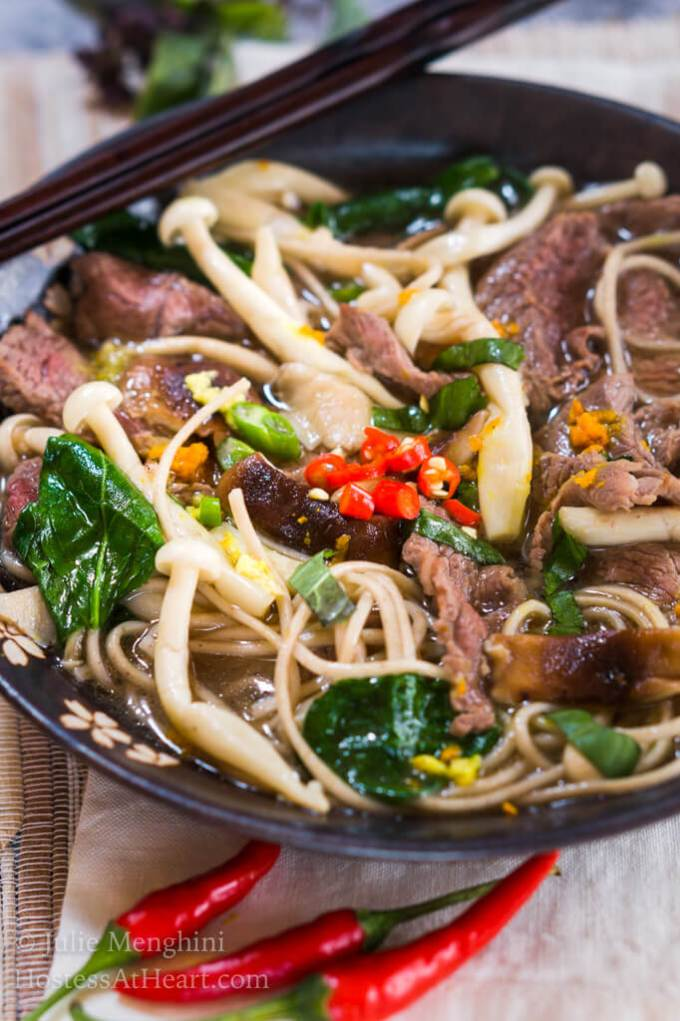 Spicy Asian Beef Noodle Bowl