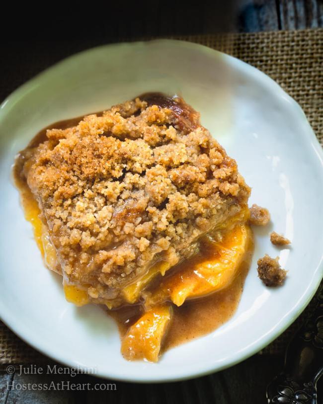 Homemade Fresh Peach Crisp