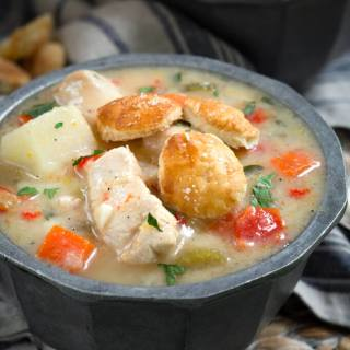 Healthier Chicken Pot Pie Soup Recipe