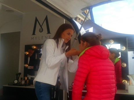 Mylène make-up artist kusttour