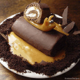 "Snail on a Log, complete with swamp and mud, yummy! What a great treat for the little ""bug-ologist"" in your family! Items Needed: 2 Hostess Caramel Ho Hos 5 soft […]"