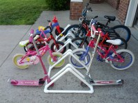 Project #4  DIY Bike Rack Made from PVC Pipe   Hostess ...