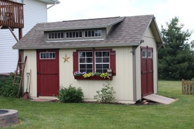 10x16-garden-shed-gp-cream-clay-trim-jamestown-red-doors