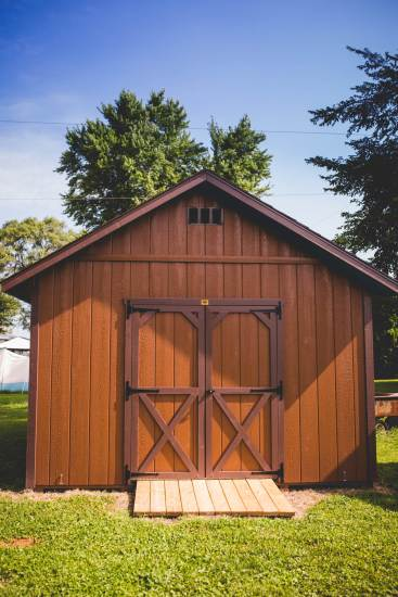 12 X 20 Garden Shed with Wood Siding