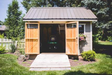 Double Door Painted Garden Shed