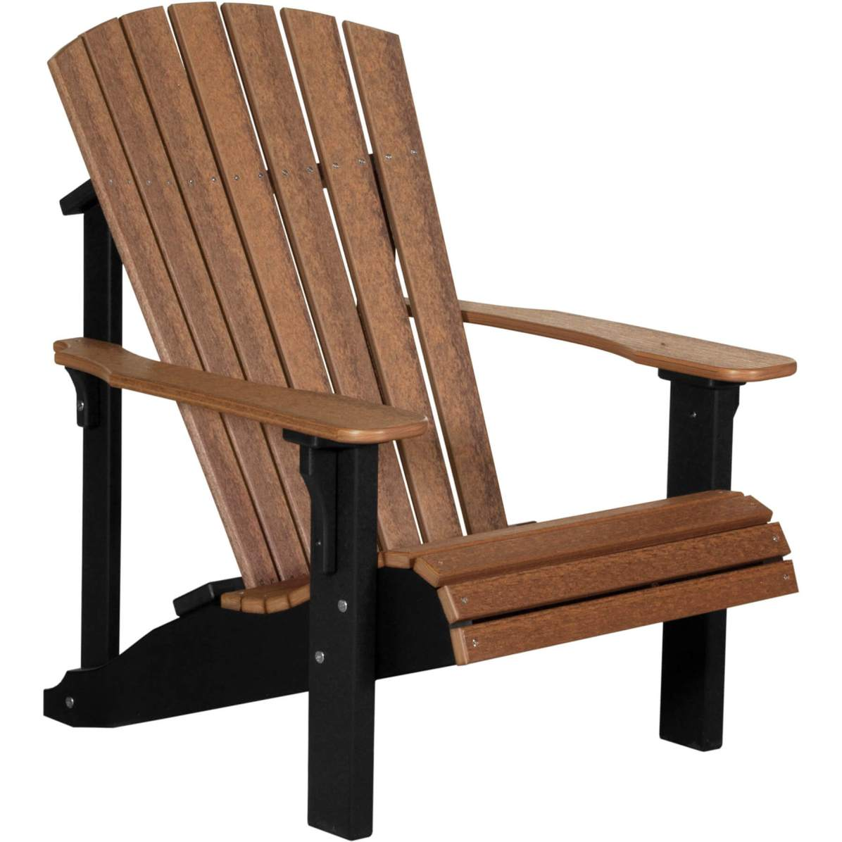 PDACAMB Poly Deluxe Adirondack Chair (Antique Mahogany & Black)
