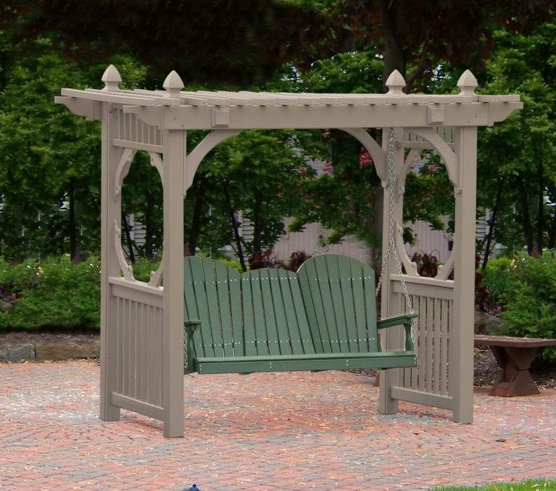 Classic Clay Vinyl Swing Stand with 5' Adirondack Swing Green