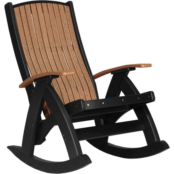 PCRAMB Poly Comfort Rocker (Antique Mahogany & Black)
