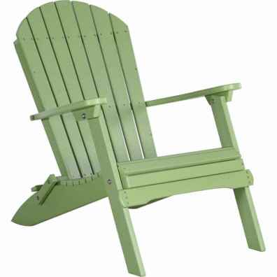 LuxCraft Poly Folding Adirondack Chair Lime Green