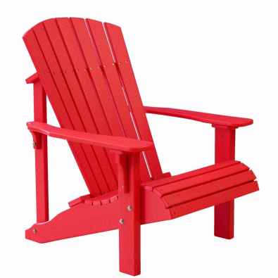 LuxCraft Poly Deluxe Adirondack Chair Red