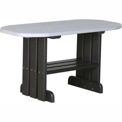 LuxCraft Poly Coffee Table Dove Gray & Black