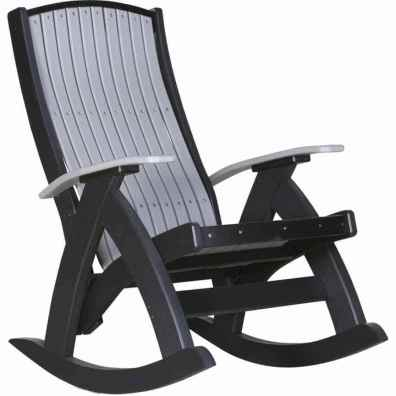 LuxCraft Poly Comfort Rocker Dove Gray & Black