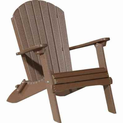 LuxCraft Poly Adirondack Folding Chair Chestnut Brown