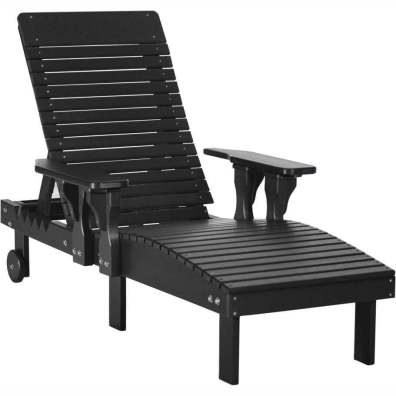 LuxCraft Poly Lounge Chair Black